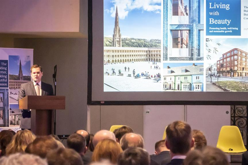 Robert Jenrick at the launch of the report last week (Pic: MHCLG)