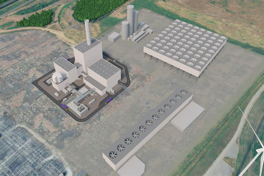 A visualisation of the power plant at Keadby (Pic: SSE Thermal)