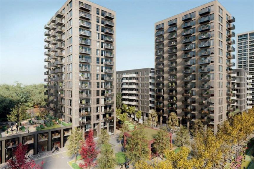 A visualisation of part of the finished Kidbrooke Square scheme (pic: TfL/Notting Hill Genesis)