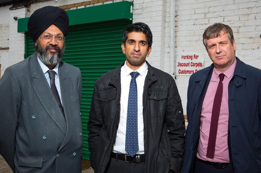 Enforcers: compliance and monitoring team leader Sarbjit Singh, planner Zafer Faqir and head of planning Grant Butterworth