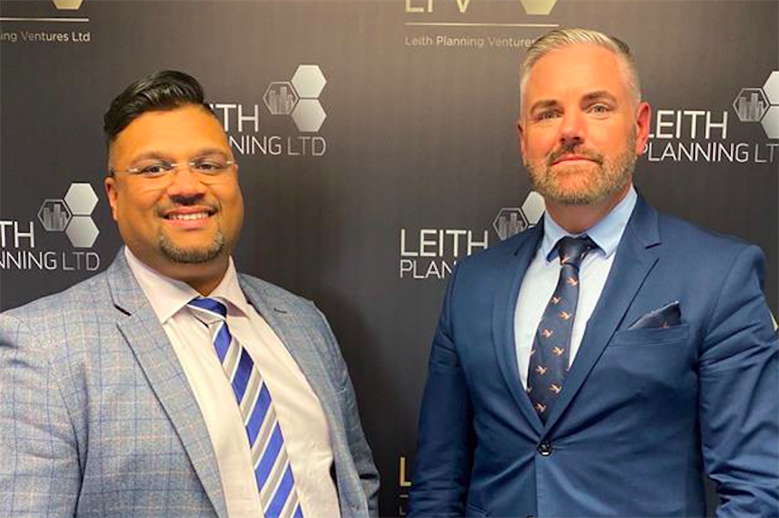 Shan Dassanaike (chief operations officer) and Paul Kallee–Grover (Pic: The Leith Group)