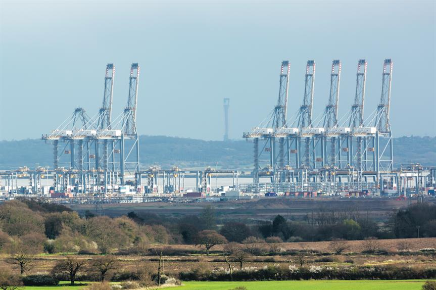 Cranes at the London Gateway port in Essex (Pic: Getty)