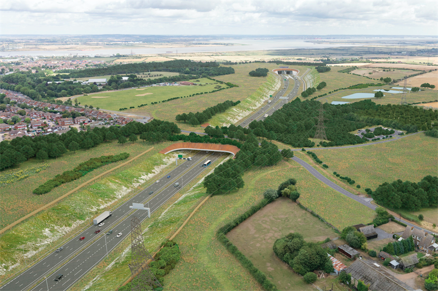 The proposed Lower Thames Crossing (Pic: Highways England)