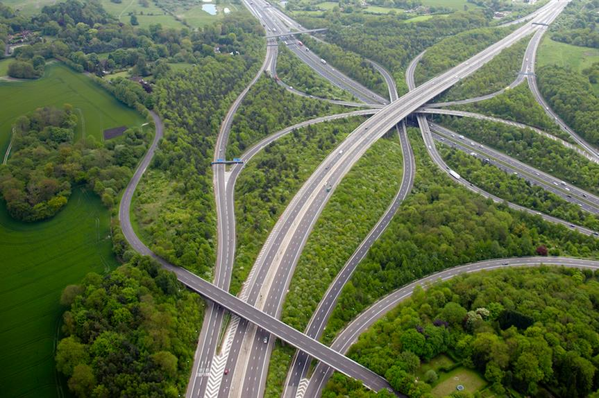 The M23 and M25 Motorway Junction near Redhill, Surrey (Pic: Getty)