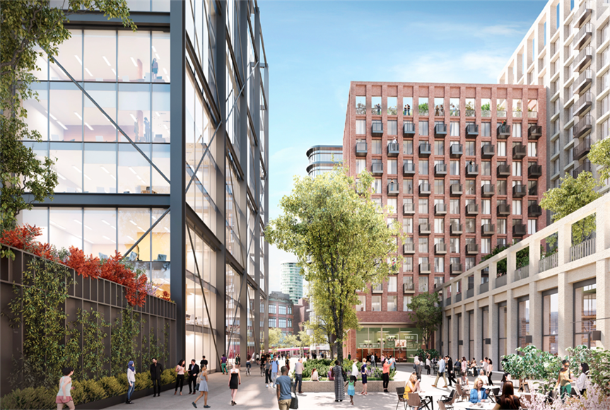 A visualisation of the Martineau Galleries scheme in central Birmingham. Image by Hammerson