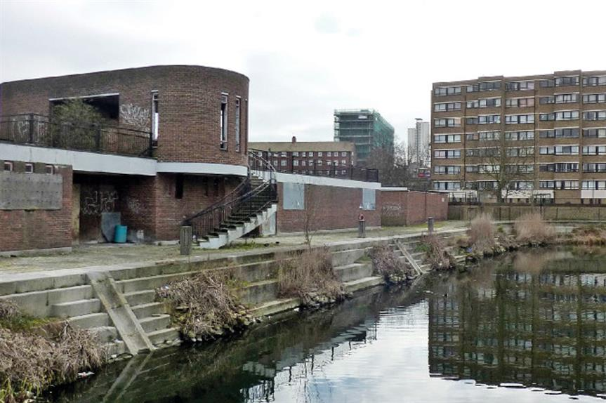 Mast Pond Wharf: the site, which used to be an aquatic centre, is now derelict