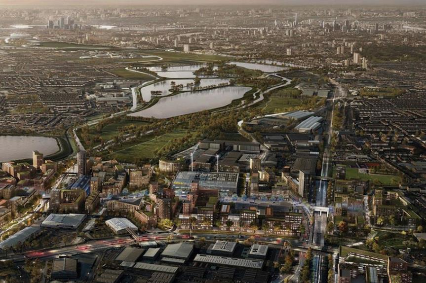 A visualisation of the finished Meridian Water development
