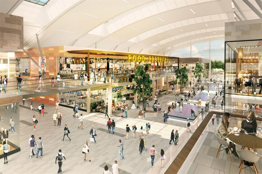 The proposed mall extension