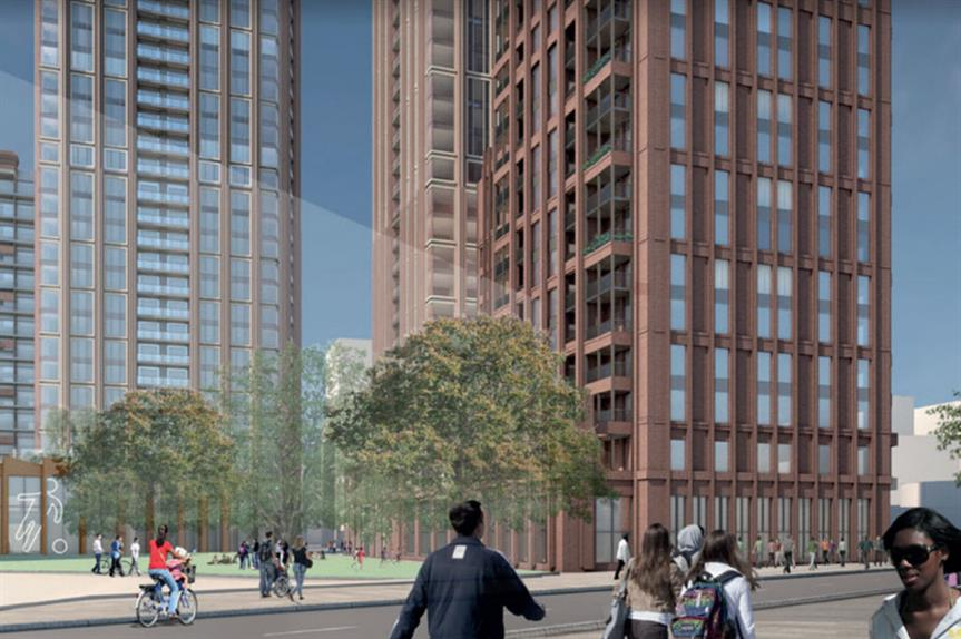 A visualisation of the finished Old Kent Road development (pic: Farrells)