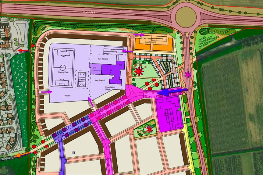 The masterplan for the proposed site (Pic: Lioncourt)