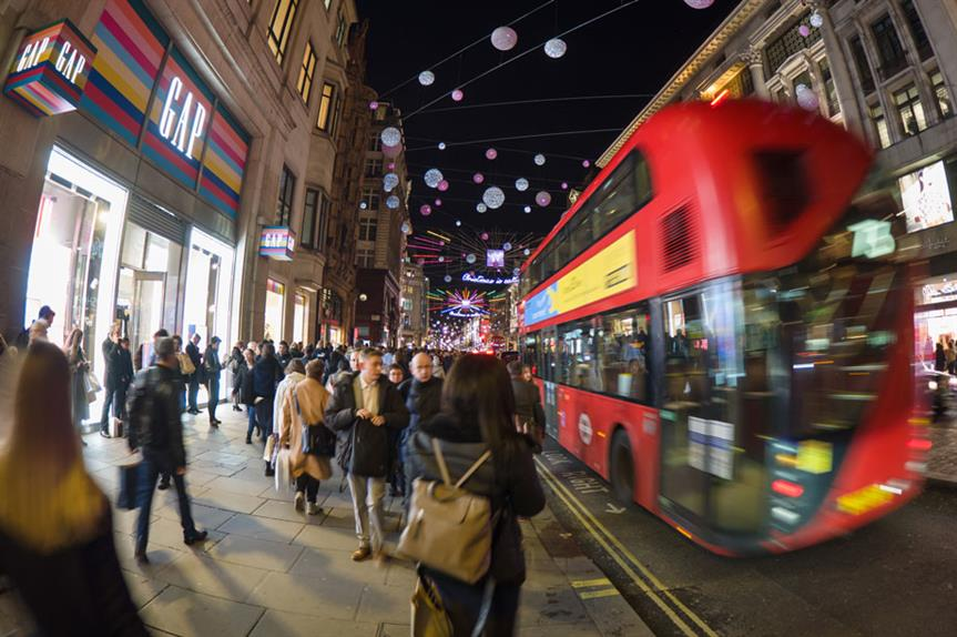 London's Oxford Street (pic: James Petts, Flickr)