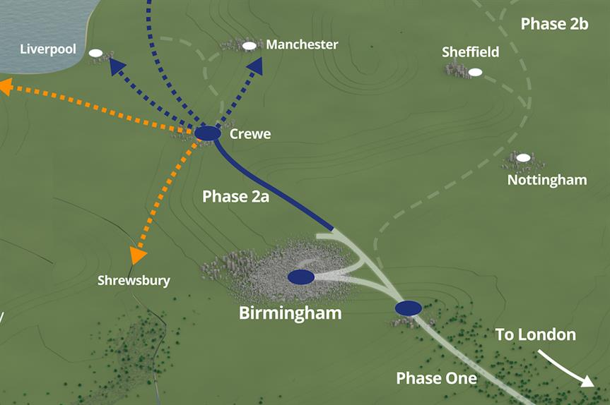 The proposed Phase 2a (Pic: HS2 Ltd)