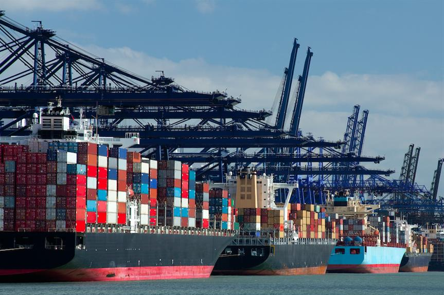 Container ships at a port (Pic: Getty)