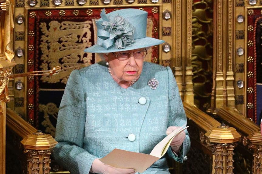 The Queen delivering her speech earlier today (pic: Getty)