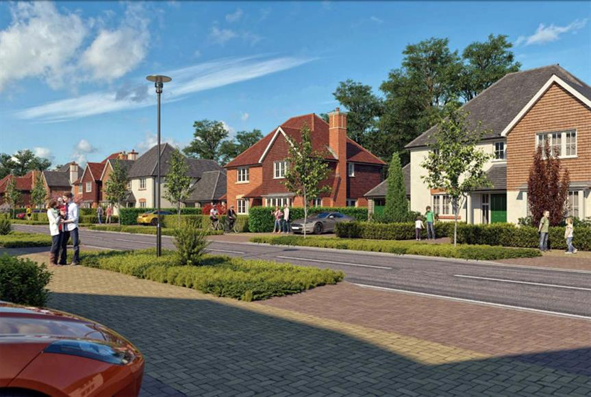 Artists impression of proposed 750 home Ashford urban extension