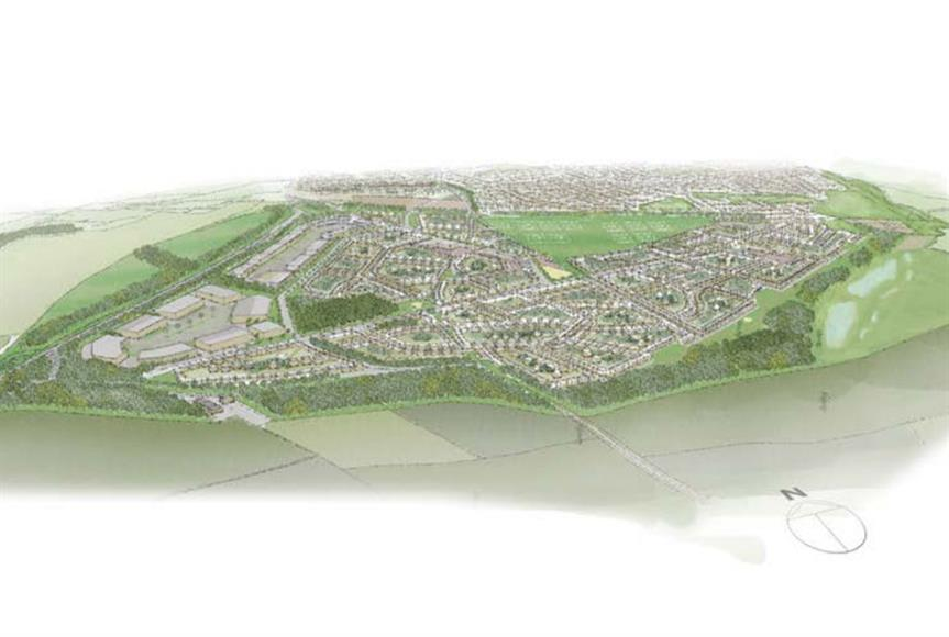 A masterplan visualisation of the development. Image: Clowes Developments