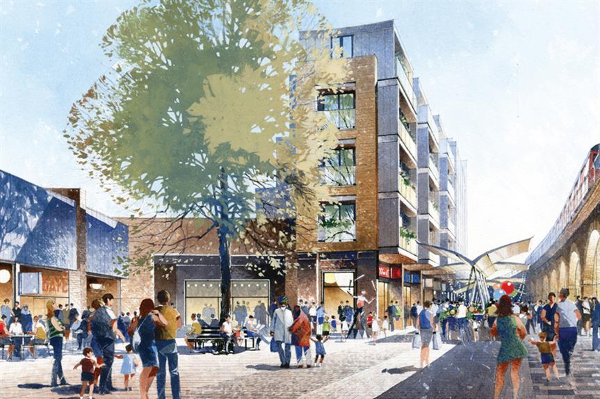 Shepherd's Bush: artist's visualisation of the redevelopment