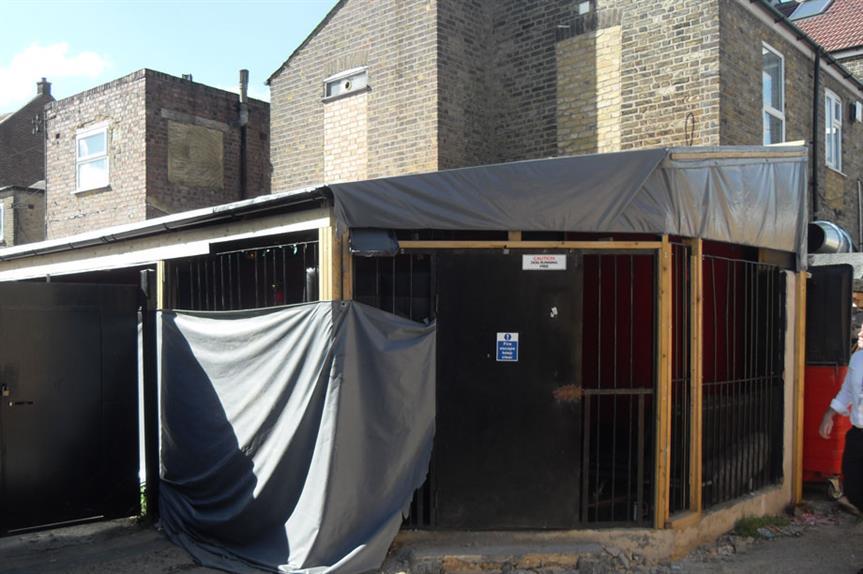 One of the illegal shisha bars