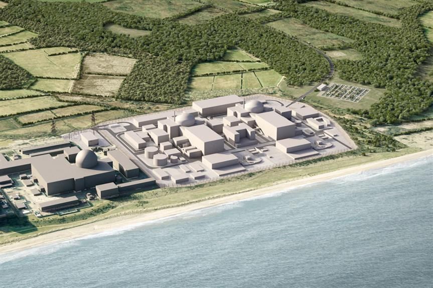 A visualisation of the proposed new Sizewell nuclear plant. Image: EDF