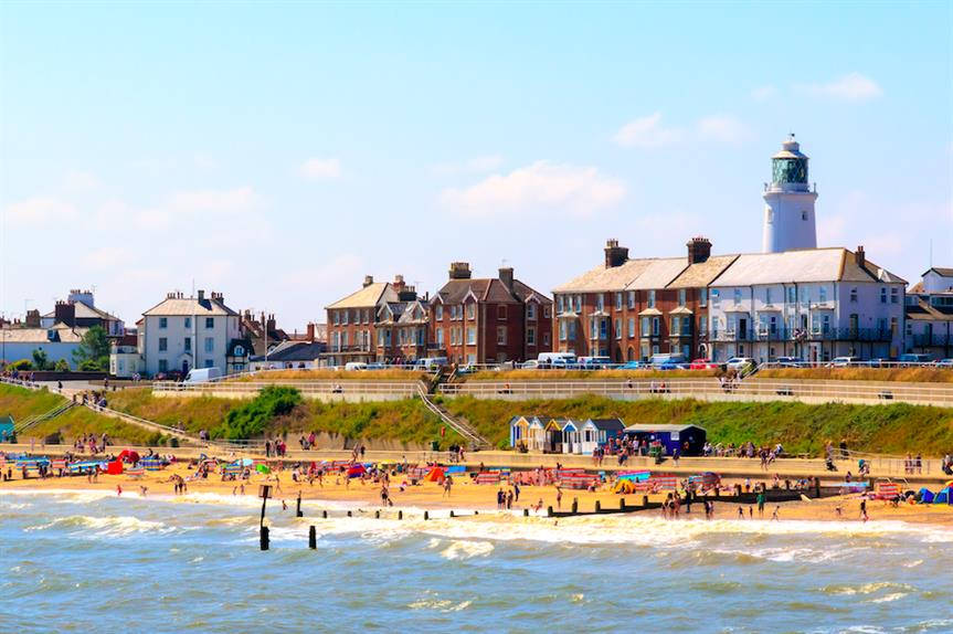 Southwold Beach in East Suffolk (Pic: Getty)