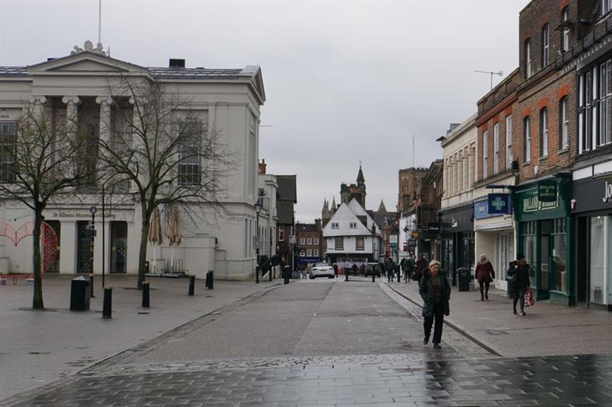 St Albans city centre (pic: Bill Boaden via Geograph)