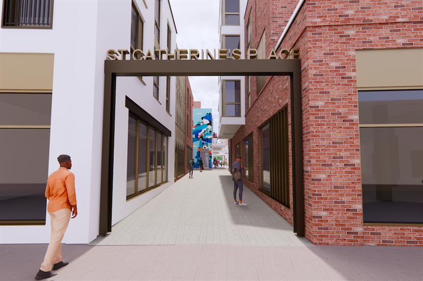 The proposed entrance to St Catherine's Place (Pic: Firmstone Developments)