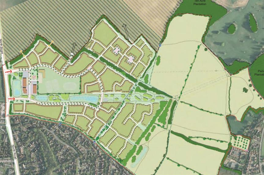 A masterplan visualisation of the scheme (pic credit: Bellway Homes and Millar Homes)