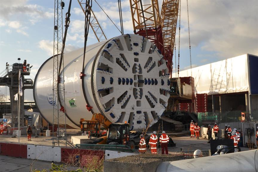 One of the boring machines being used to construct the Thames Tideway Tunnel