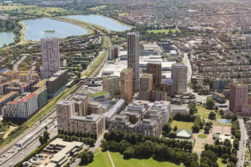 Approved: a visualisation of the finished Tottenham Hale development