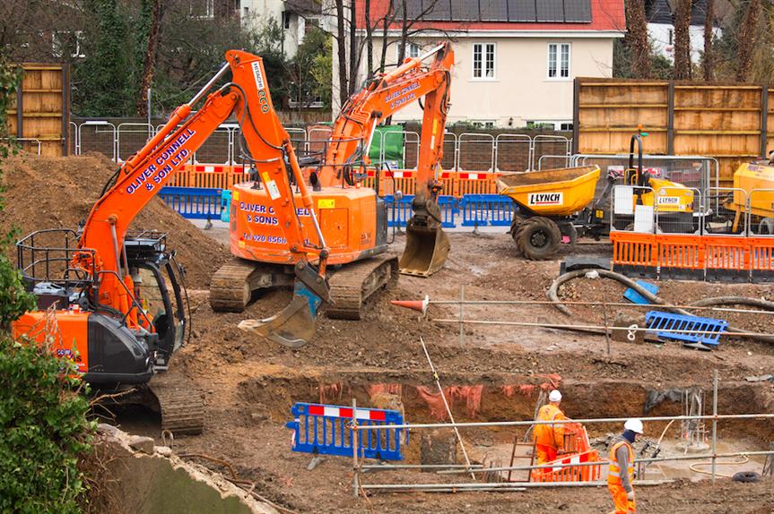 Construction work at Twickenham Station (Pic: Julian Dodd)