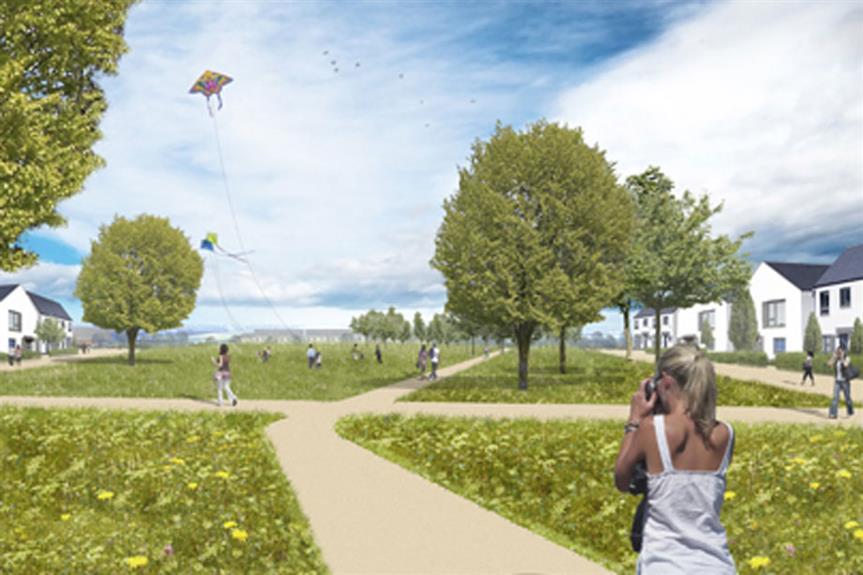 An artist's impression of plans for Welborne Garden Village