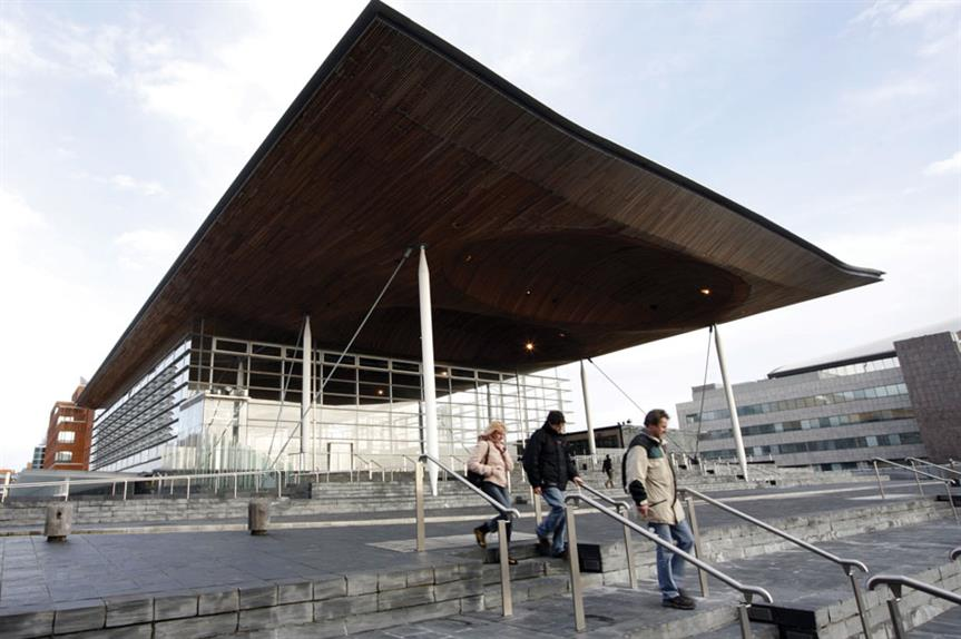 The Welsh Assembly building in Cardiff