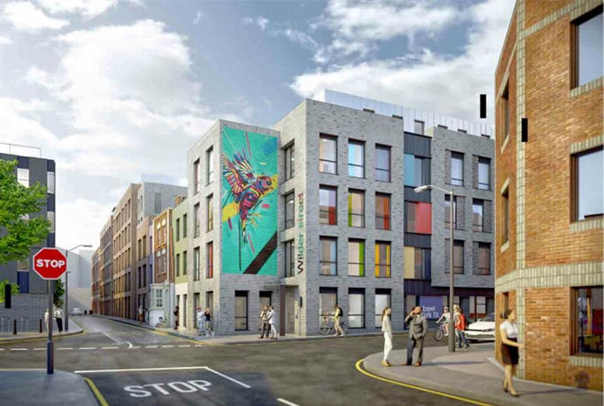 Bristol student accommodation in Bristol approved. Image by Watkins Jones Group