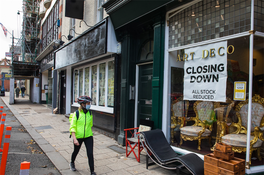 A closed antiques shop in Windsor (Pic: Getty)