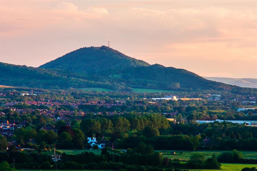 The Wrekin hill in east Shropshire and part of Telford town (Pic: Getty)