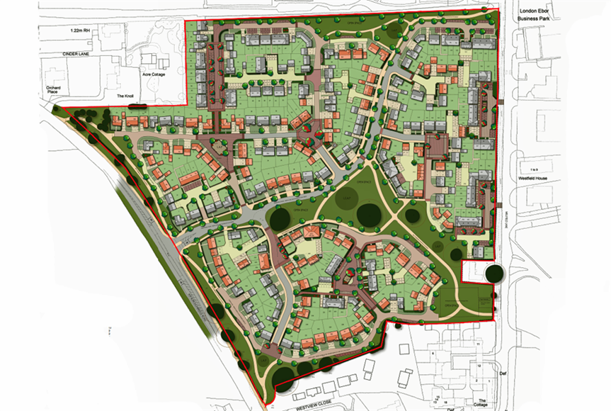 A masterplan image of the scheme (pic credit: Miller Homes)