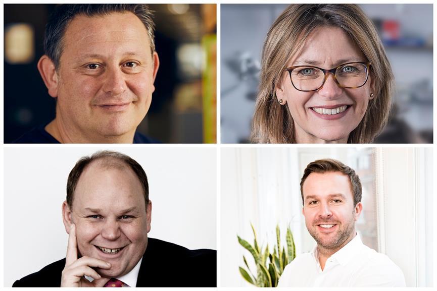 Clockwise from top left: Jon Lonsdale, Octopus; Leanne Tritton, ING Media; Mark Houlding, Rostrum; Alastair Turner, Aspectus