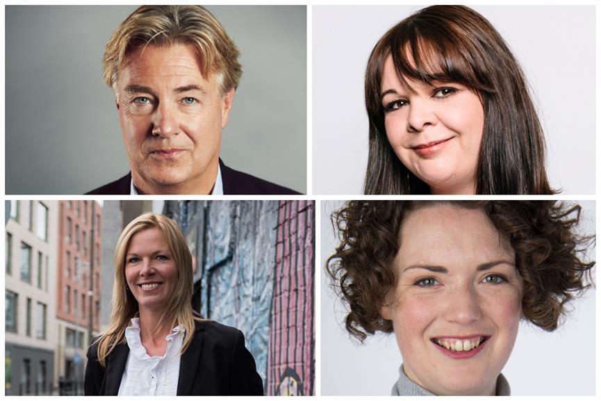 Clockwise from top left: Giles Fraser, Brands2Life; Ellie Thompson, Harvard; Laura Tapper, Weber Shandwick; Tara O'Donnell, Hotwire