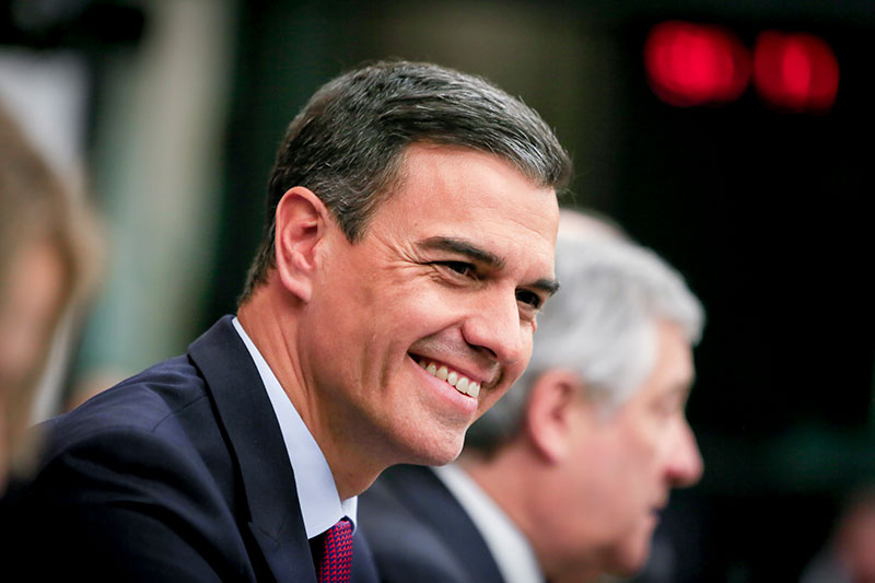 Pedro Sanchez. Photograph: European Parliament