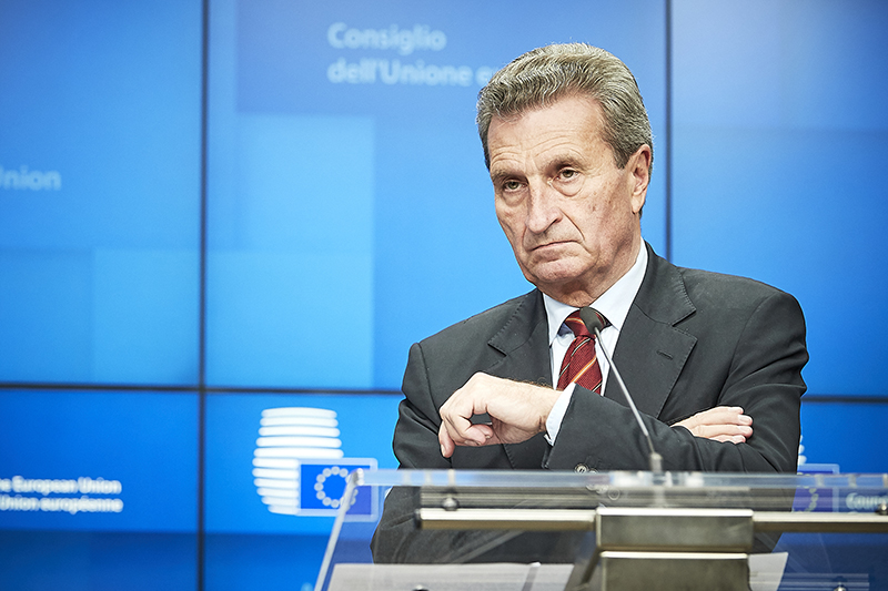 Gunther Oettinger, European Commissioner for budget and human resources (picture: European Union)