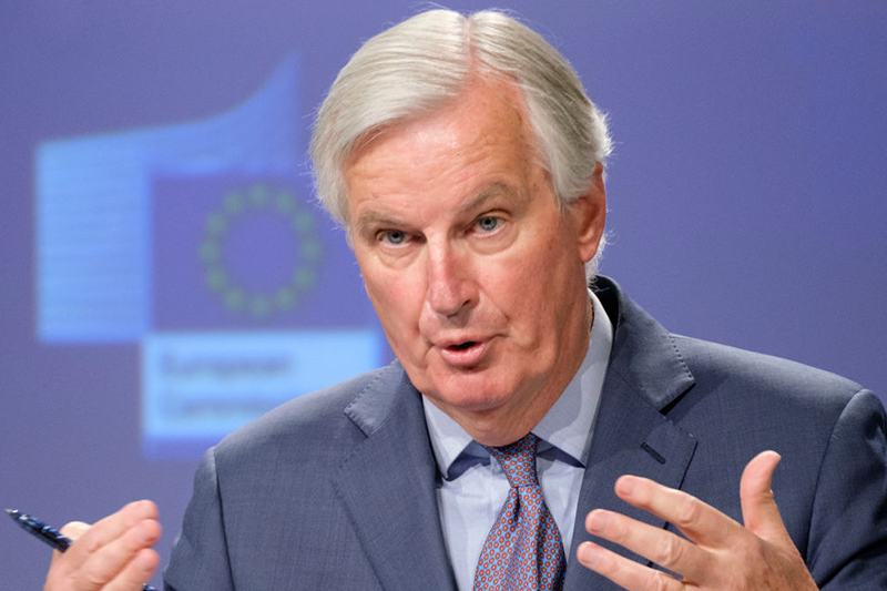 Barnier: said his British counterparts 'failed to engage substantially' on issues around the level playing field(Photo by Thierry Monasse/Getty Images)