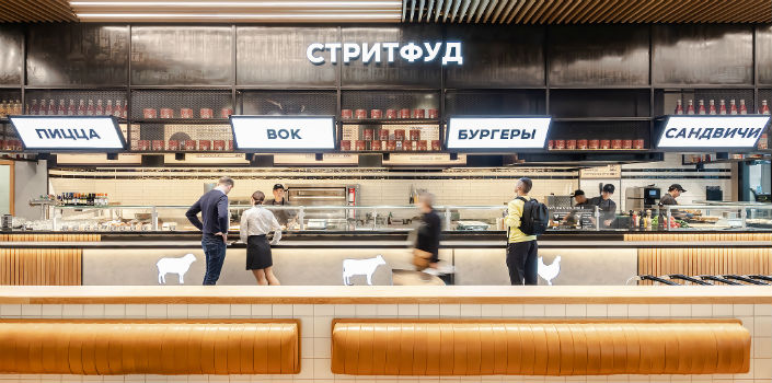 Edim Letim is the largest dining establishment in Russia's second busiest airport, Domodedovo International