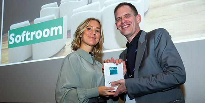 Softroom win Gold in the Transport Hubs category for Flow Wall' - Turkish Airlines Lounges Istanbul