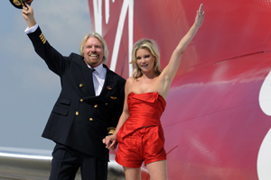 Kate Moss and Richard Branson: Virgin celebrates 25 years with new aircraft order