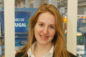 Imex Group chief executive Carina Bauer reassures visitors to 2011 show