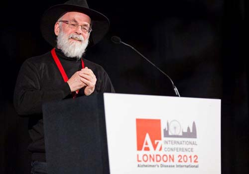 Children's author and dementia sufferer, Terry Pratchett spoke at the ADI conference in London