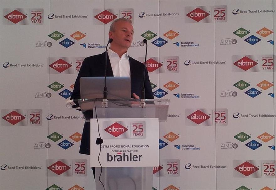 Amiando managing director Norbert Stockmann shares results of Social Media Report 2012 at EIBTM