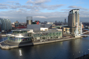 Salford Quays is home to the new Holiday Inn Manchester Media City UK