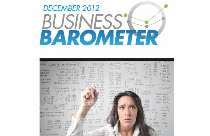 MPI's Business Barometer for December 2012 highlights economic uncertainty