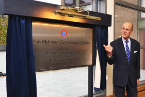 Prince Philip opens the John McIntyre Conference Centre in Edinburgh